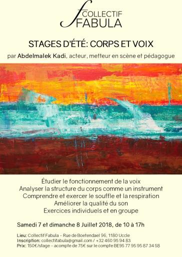 Stage d'été- corps et voix